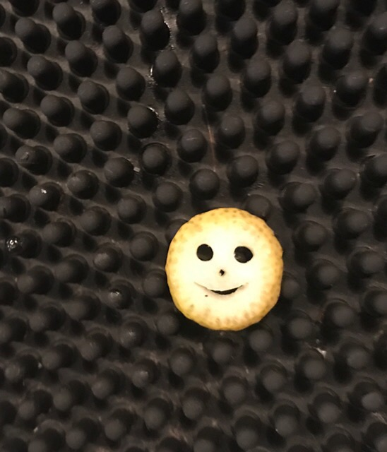 a strange smiley face